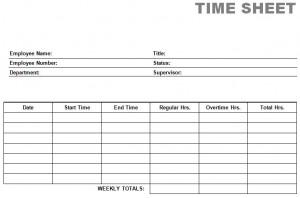 printable blank PDF time card time sheets