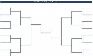 2011 Printable PDF MLB Baseball Playoffs Bracket