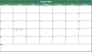 2014 holiday calendar template