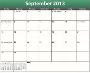 great printable pdf september 2013 calendar