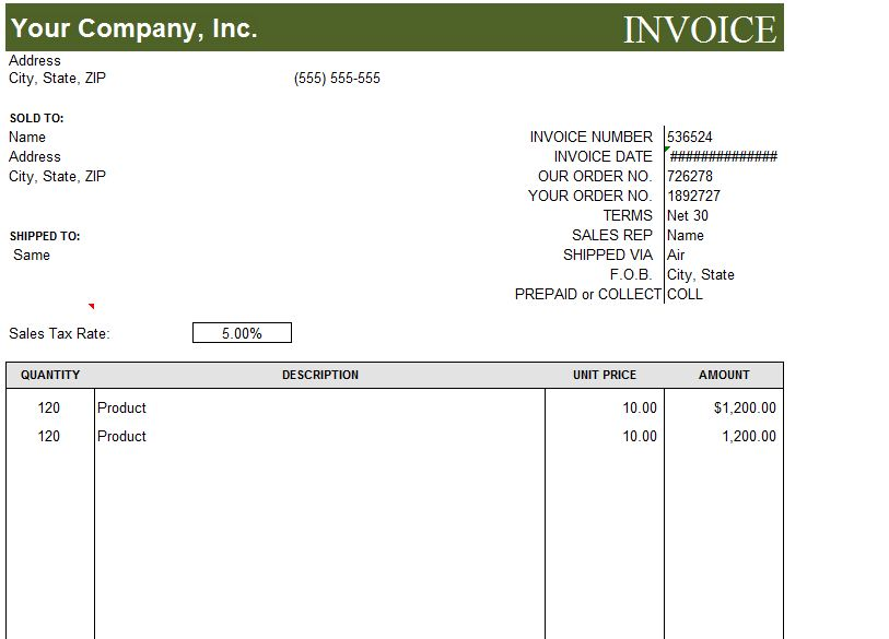 Basic Invoice Template Free Invoice Template