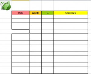 Printable Weight Loss Journal