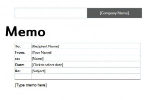 The Business Memo Template