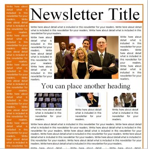 Business Newsletter Templates from MyExcelTemplates.com
