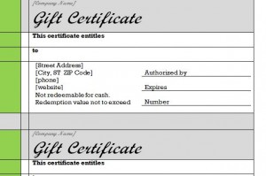 The Gift Certificate Template Word document