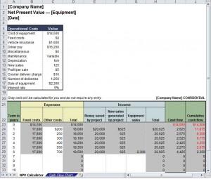Net Present Value Calculator Excel