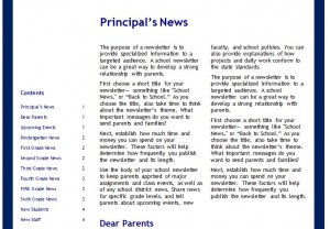 The School Newsletter Templates
