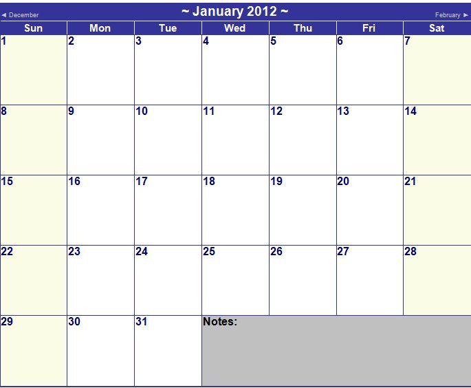December Ms Word Calendar 2019 Microsoft Word Calendar Template 2012   Microsoft Word 2012