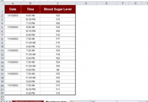FREE Printable Blood Sugar Chart