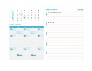 Photo of the Student Weekly Planner Template
