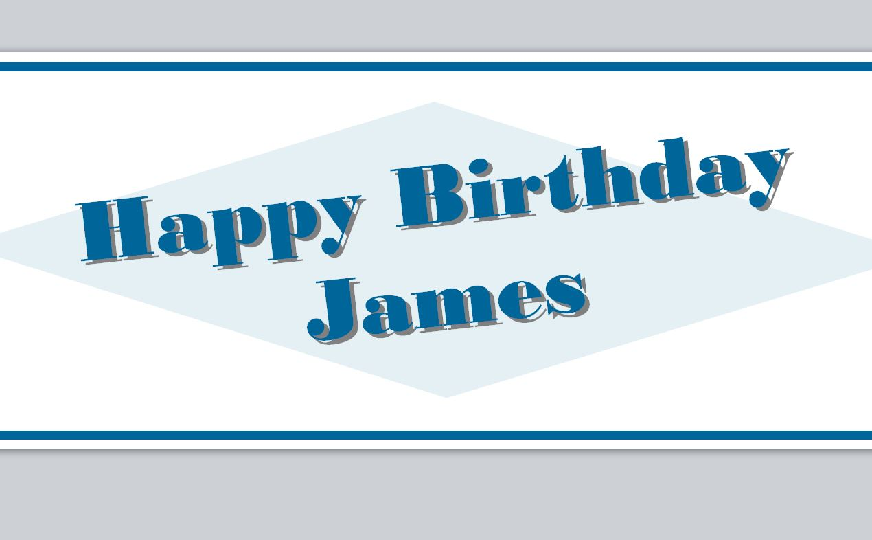 It is a picture of Printable Birthday Banner Template with blank