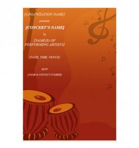 Free Concert Invitation Template