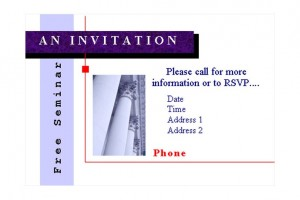 Free Seminar Invitations