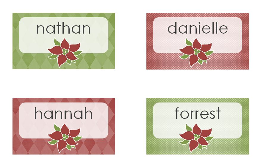 imprintable place cards template - free printable place card templates christmas