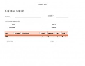 The free Simple Expense Report Template