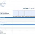 The free Babysitter Checklist