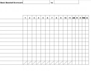 Free Baseball Stat Sheet