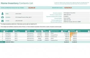 Free Home Inventory Checklist