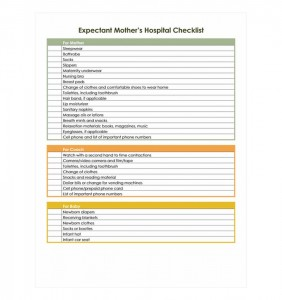 Free Pregnancy Hospital Bag Checklist