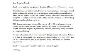 Free Donation Letter Template