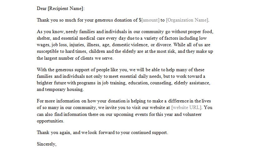 Donation Letter Great Fundraising Letter Example Best 25