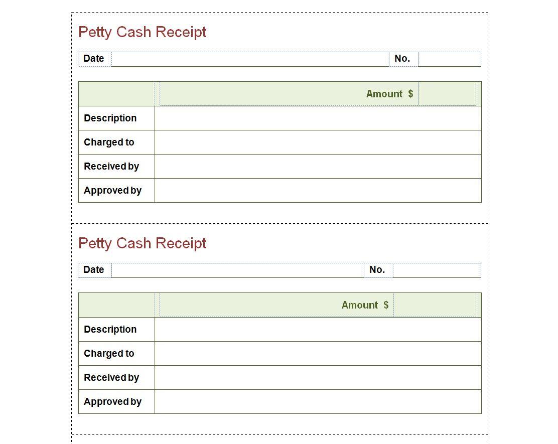 Petty Cash Receipt Template Petty Cash Receipt