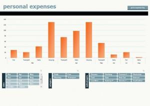 Microsoft Personal Expense Calculator