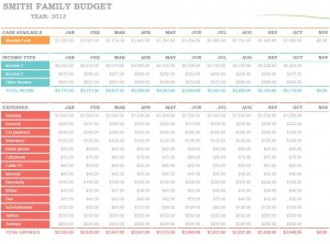 The Microsoft Family Budget Planner