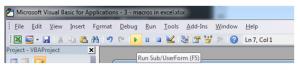 Macros in Excel