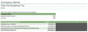Website Budgeting Tool