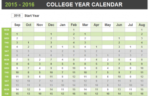 College Yearly Appointment Planner