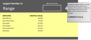 Find Largest Number in Excel
