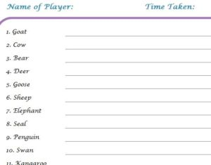 Baby Shower Games Template