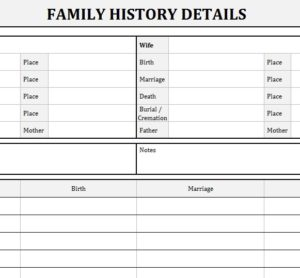 Family History Records