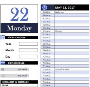Daily Work Schedule